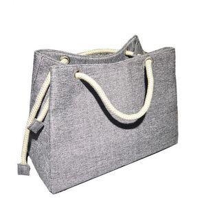 Aoildlli Женской моды белья сумка Больших Магазины Tote отдых Big Корзина Сумка Summer Beach Bag Тканого Бич мешок плеча J190712