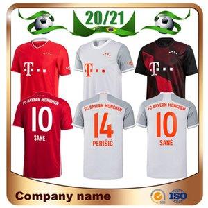 20/21 Bayern Munich SANE MULLER Soccer Jersey 2020 Accueil Red LEWANDOWSKI JAMES football maillot extérieur GÖTZE RIBERY 3e ventes uniformes de football