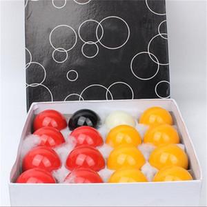 30mm 16pcs / jaune rouge mis Snooker Billard Piscine huit ball balles Snooker