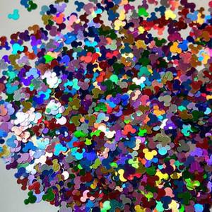 50г многоцветного голографического голову мыши блесток блестки конфетти для ногтей в форме голографической Блеск - Обработки - Сыпучие