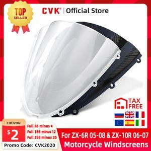 CVK Motorcycle Windshield Windscreen Air Wind Deflector For ZX6R 2005 2006 2008 ZX10R 2007 2008 ZX 6R 05 08 10R 07 08