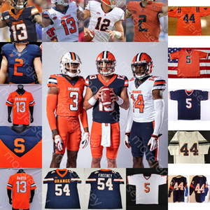 Costumbre Syracuse Orange camiseta de fútbol universitario NCAA Lakiem Williams Eric Jones Dungey Freeney Harrison Art Monk Culpepper Queeley Jonathan