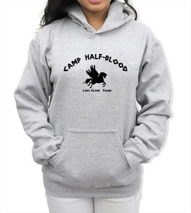 Fashion Sweatshirts Spring Winter Fleece Hoodies Print Camp Half Blood Demigods Animal Kawaii Womens Hoody Pullover Kpop