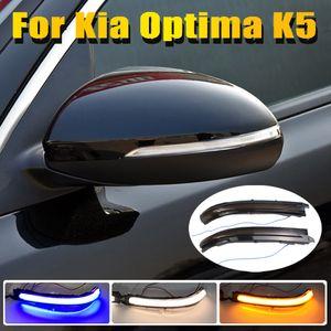 Blue White Yellow LED Dynamic Turn Signal Light Flasher Flowing Water Blinker Flashing Light For Kia Optima K5 TF 2016-2019