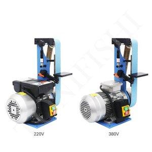 Vertical Type Woodworking Belt Grinding Machine Small Desktop Household Multifunctional Belt Sander 1500W 220V 380V