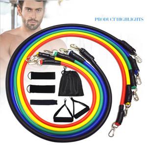 Tração da corda Fitness Exercícios faixas da resistência Man Training Workout Yoga Rope Set Latex Tubes Pedal Excerciser Home Gym Acessórios LSK719