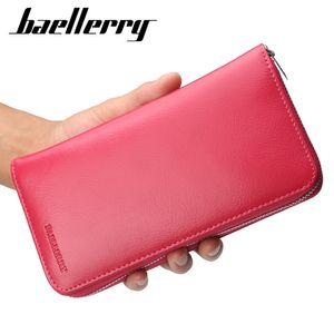Baellerry Cowhide RFID женщин кошелек Портмоне Многофункциональный Анти-магнитный держатель сцепления сумка Organ Card Женская сумка