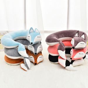 Lovely U Shape Cartoon Neck Pillow Cotton Plush Travel Car Home Pillow Health Care For Flight Plane Travel Animal Nap