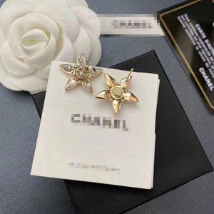 Di alta qualità Nuova lettera CD di design di lusso del lotto ciondola lunga catena Orecchini Stella strass fascino della moda orecchino di goccia donna