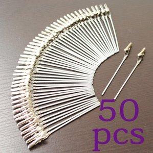 porción 50pcs clips titular del arte de DIY nuevo clip de alambre cardnotepicturephotomemo 4 pulgadas, pinza de cocodrilo de fiesta, complementos claycake