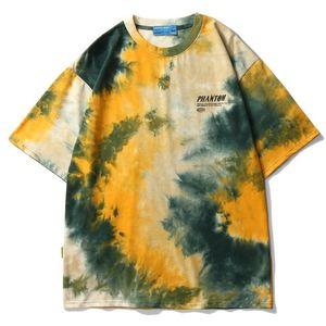 Hot 2020 tie-dye T-shirt Men Hip Hop sweatshirt harajuku Tee Tops Summer Male Hip Hop Short Sleeve Streetwear Fashion Casual tops