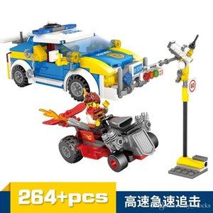 Полиция города выследить Загрузка автомобиля Модель Дети Puzzle Строительные блоки Собранный Малые частицы DIY Цифры Кирпичи Boy Toy 02