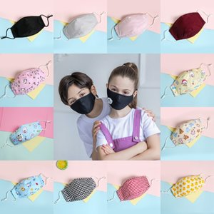 Kids Cotton Face Masks Cartoon Printed Washable Face Mouth Cover with Respirator Student PM2.5 Dustproof Masks YYC1261