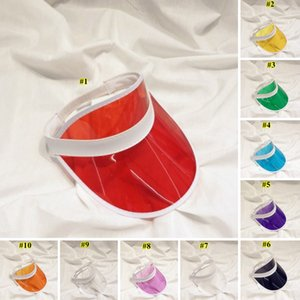 Transparent pare-soleil Chapeau créatif clair plastique vide Top Cap Outdoor Plage Voyage crème solaire Chapeau de soleil Maison et jardin DHE640