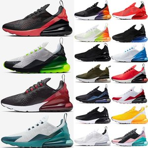 Eur 36-49 Nike Air Max 270 Vapormax  Running Shoes Big Size 13 Volt Gama azuis Trainers 14 15 Mens Sports Sneakers All Black Branco Triplo Bred