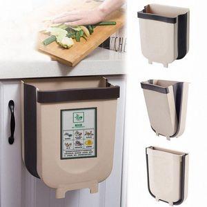 Pliable Poubelle d'armoires de cuisine Porte suspendue Poubelle Poubelle de stockage Support de cuisine stand Trash 7Bn1 #