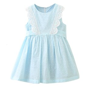 Excelent Clearance New summer babys Dress Toddler Kids Baby Girls Clothes Lace Sleeveless Party Pageant Princess Dress Z0207