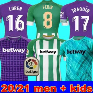 MAN + KIDS 20 21 Real Betis Football Jersey JOAQUIN Loren vêtements de formation MANDI BARTRA Tello GARCIA canales édition commémorative Fekir 8