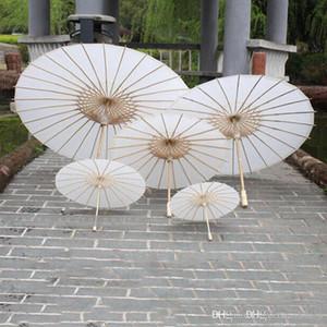 Parasoles de boda nupcial Papel blanco Paraguas Chino Mini CCRIA 4 Diámetro 20 30 40 60 cm Paraguas al Por Mayor