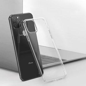 Para iPhone 12 Pro Max flexível claro transparente de silicone suave TPU tampa traseira durável e não amarela para o iPhone 11 XS XR X SE 2020