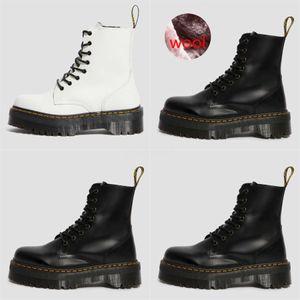 LANSHITINA Donne Kneed Martin Stivali Moto scarpe invernali autunno freddo equitazione modo rotondo female boot qualità Toe Bota Shoes G122 # 321