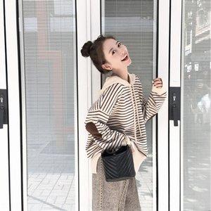 Kadın iki parçalı 2020 yeni bahar ve sonbahar gevşek Koreli tarzı Geniş bacak pantolon Triko yün yün geniş bacak pantolon rahat knitte kazak kapüşonlu