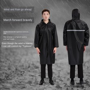 GOHDc coat adulto pano faixa reflexiva chuva grande labo brim vento longo Reflective mAymr Oxford blusão casaco de uma peça poncho Oxfor