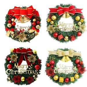 Fiesta de Navidad corona de Navidad decoración del árbol de familia de la pared decoración Atmósfera corona de la decoración cuatro colores OWE1895