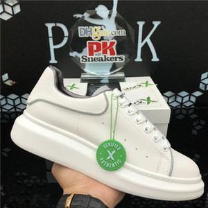 kutusuyla Üst Kalite 2020 Dantel-up Casual Platformu Erkekler Kadın Ayakkabı Balck Beyaz Altın Deri Falt Sneakers moda Erkekler kadınlar Ayakkabı
