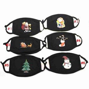 Arbre de Noël Cartoon Imprimé Noël Masque de Noël Cerf Père Noël Masque bouche Couverture antipoussière Earloop resuable Masques Designer CYZ2659