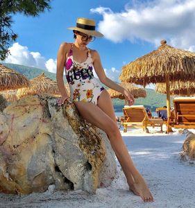 One-Piece costumes d'impression style sexy femmes Maillots de bain en plein air Plage Piscine Bandage Must Maillot de bain Four Seasons Universal
