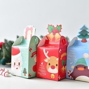 Merry Christmas Gift Bags Xmas Tree Plastic Packing Bag Snowflake Christmas Candy Box New Year Kids Favors Bag Noel Decor
