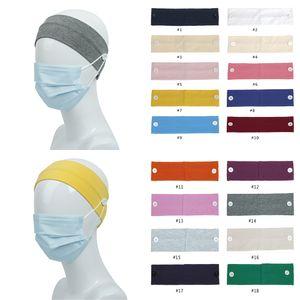 Masque Visage Bandeau Porte-adulte enfants Sports Solide Couleur Bandeaux avec bouton d'oreille Savers Bandeau Cover face w-00269