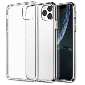 الترا سليم رقيقة لينة TPU هلام السيليكون المطاط واضحة شفافة حالة تغطية ل iPhone 12 11 برو ماكس XS XR X 8 7 6 6S حماية الزائد