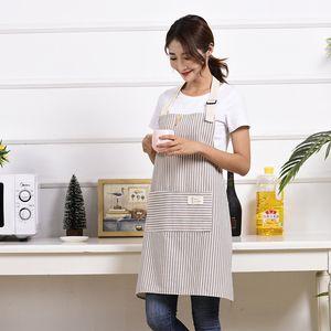 Economico 2 pezzi Cotone Lino Grembiule molli registrabili Chef Grembiule con tasca per la cucina ds99