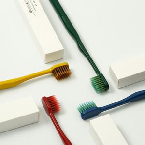 1set 4pcs couple toothbrushes Korea SHINE adult couple toothbrushes with soft bristles wide head bamboo charcoal family