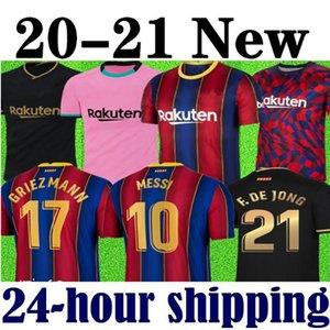 maglia da calcio di alta qualità 19 20 21 BARCELONA maglia da calcio BARCA camisetas futbol 2020 2021 MESSI SUAREZ GRIEZMANN DE JONG maglie da calcio