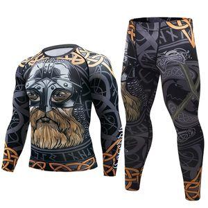New pirates men compression t shirt Fashion 3D Game characters print Long sleeve Rashguard MMA Tops Cross Fitness Tights tshirt 0921