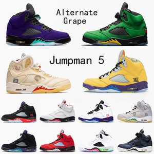 air jordan retro 5 5s off white JUMPMAN 5s 2020 Alternate Grape SE Oregon Mens Basketball Shoes What The Hyper Royal Sail 5 Women OG Sneakers Trainers Athletic Shoes 36-47