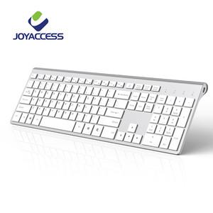JOYACCESS Tastatur schnurlos funk Full Size Tastatur Spanisch / Französisch / Italienisch / Deutsch / Englisch / Russisch Silm für Office