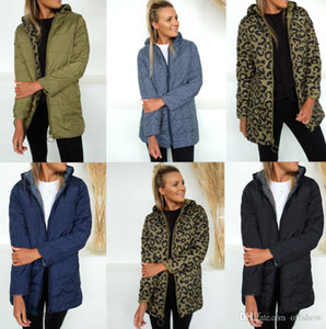 Parkas Winter Designer Thick Leopards Warm Windbreaker Coats Reversible Women Down
