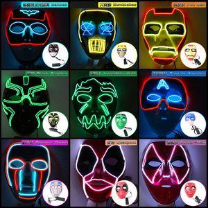 2020 горячий продавать Хэллоуин маска для лица Мстителей железа Человек-паук водить маски Halloween Party тему Дизайнерские маски