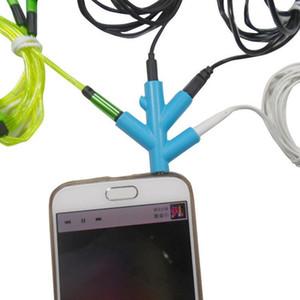 Cgjxs 3 .5mm سماعة محول 4 طريقة كابل جاك محول التوصيل سماعة الفاصل للكمبيوتر / MP3 الهاتف الذكي لاعب 1 مساهمة 4 الناتج كابلات الصوت