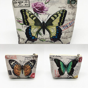 Butterfly cartoon coin purse key card women's children's student Butterfly Card wallet wallet coin bag PU bag