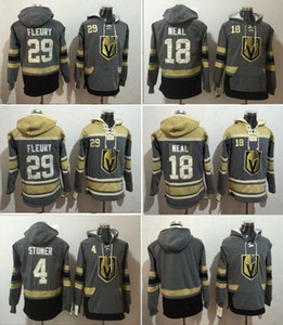 Top Vegas Golden Knights Winter-Hoody 29 Marc-Andre Fleury 18 James Neal 4 Clayton Stoner Hockey Trikots M-3XL