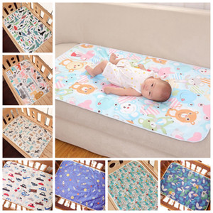 Baby Changing Mat Cartoon Cotton Sheet Waterproof Baby Changing Pad Nappy Urine Pads Table Diapers Game Play Cover Infant Mattress DW5757