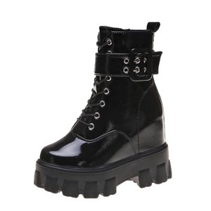Women's Boots Autumn Booties Ladies Platform Fashion Womens Shoes 2020 Boots-women Lace Up Round Toe Punk Lolita Rock