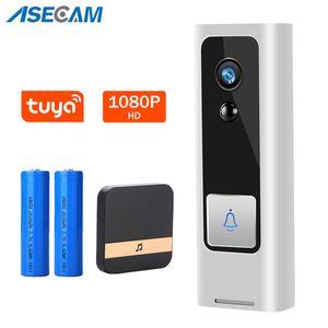 TUYA1080P Smart WiFi Video Doorbell Camera Intercom IP Security CCTV Camera Outdoor Video Door Bell IR Night Vision Door Bell