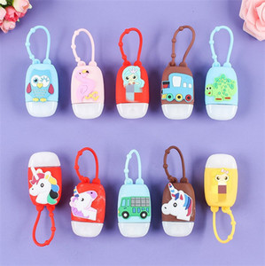 30ML Cartoon Silicone Hand Sanitizer Bottle Holder Perfume Bottle and Silicone Protective Cover Set Random Pattern SALE E92107