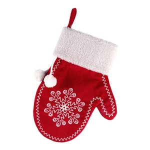 Cute Xmas Classic Hanging Gloves Kids Candy Gift Packing Bag Tree Hanging Party Home Holiday Embellishment Christmas Gifts Bag